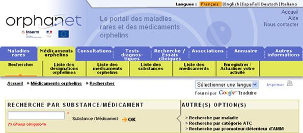 ORPHANEWS:Bulletin du 17 février 2010 Drug3